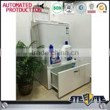 European style steel bathroom cabinet white washing machine base cabinet