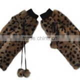 YR142 Winter Cool Print Fur Leg Warmer/Real Rabbit Fur Leg Warmer