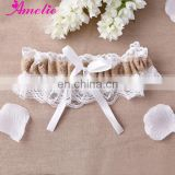 Burlap Wedding Lace Garter