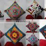 Cushion Covers Uzbek Throw Pillow cover Cushion Embroidered Ethnic decorative Vintage cases Indian Handmade Suzani Embroidered