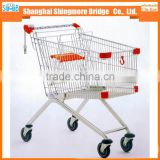 hot sales good quality 180L european supermarket trolley