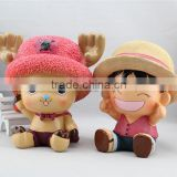 Hot Japanese Anime One Piece Money box Luffy Money bank wholesale piggy bank for gift