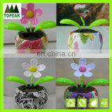 newest solar flip flap solar powered dancing flower