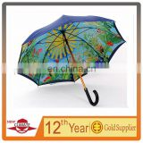 2014 NEW FASHION LOGO PRINTED INSIDE PROMOTIONAL UMBRELLA