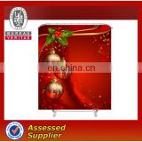 Custom polyester printed christmas shower curtain