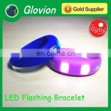 Glovion New design silicone led flashing bracelets designs for logo