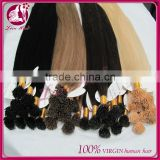 Wholesale top quality 6A brazilian virgin human 10-30 inch i tip hair extension Lowest Price