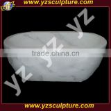 carving white marble beautiful bathtub for sale