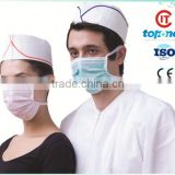 80g disposable paper forage hat,chef hat with stripe