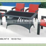 PE synthetic rattan & iron outdoor furniture, waiting room sofa, white garden sofa set