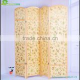 Indoor decorative folding screen wooden partition Wooden Room Divider Folding Room Dividers printing GVSD 018