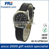 Mini Silver alloy <b>watch</b>es with <b>black</b> leather <b>strap</b> <b>watch</b>