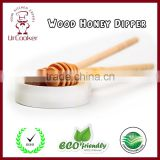 Best sell high grade wooden honey dipper