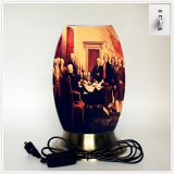 Qin Yuan art desk lamp, creative lamp, decorative table lamp, LED table lamp, American cultural series lamp (Dusa007)