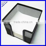 desktop black wire metal mesh note holder