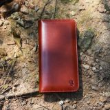 Slim handmade vegetable tanning phone case wallet iphone 7