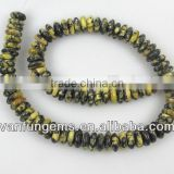 Wholes Loose Gemstone Rondelle <b>Yellow</b> <b>Turquoise</b> Rondelle <b>Beads</b> for Jewelry