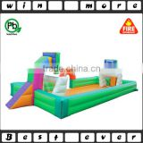 hot sale inflatable sport game zone,inflatable basketball hoop n football shoot out games equipment combo