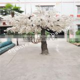 Atificial white cherry blossom flower tree for wedding decoration fiberglass trunk