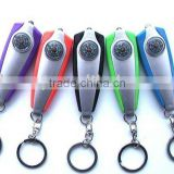 promotional LED keychain light with compass/Whistle key light with compass andkeyring