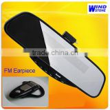 Mr.Ice Online Service!Car Bluetooth Stereo Handsfree Rearview Mirror With Chargeable Battery And FM Earpiece