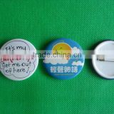 Button badge with plastic cover