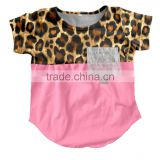2017 Yiwu boya Wholesale Baby Clothes Latest pink leopard pattern t-shirt for little baby girls