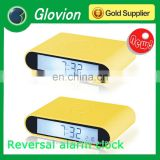 Hot sale new design plastic clock Reversal clock Hobby clock for kids