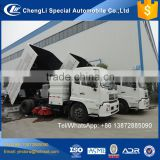 New brush street truck, road sweeper truck specification, truck mount street cleaner
