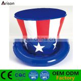 Factory OEM customizable inflatable hat for promotional gifts