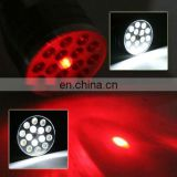 16led white +laser+UV multi function flashlight