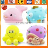 hot sale vinyl bath toys, oem rubber bath toys, bath toys swimming animal