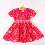 Beautiful Geometrical Print Dress - Pink for kids