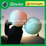 New brand golf flashing ball glovion advertising golf ball with led light fluorescent golf ball