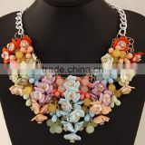 ODM/OEM Fashion Jewelry Factory heavy LITTLE LADYBUG BUG NECKLACE, flower necklace, statement necklace