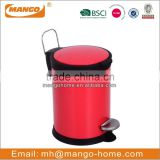 Round Cover Powder Coating Pedal Waste Bin