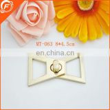 gold color high quality&new style gold metal bar trim for garment decoration