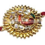 Ratna handicrafts Exclusive Peacock Design Stone Rakhi - Indian
