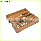 Kitchen Helper High Quality Bamboo Expandable Cutlery Tray& Organizer /Homex_Factory