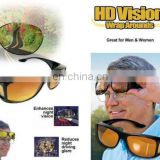 fashion HD Night Vision Unisex Driving Sunglasses Nice Over Wrap Around Glasses AS017