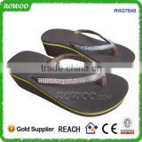 new model brown women sandals with shiny diamont