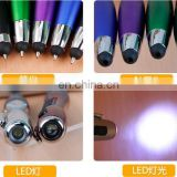 3in1 good quality led touch screen pen led ballpoint pen