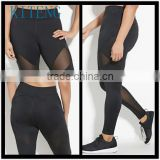 Kiteng High Performance Plus Size Mesh-Insert Leggings Office In United States (USA)Small Minimum