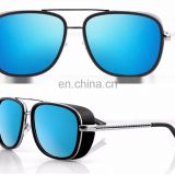 Mens Square Tony Stark Iron Men Sunglasses Retro Transparent Lens AS022