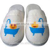 Turkish Velvet Towel Happy EMOJI Slippers taking bath Home, Spa, Bath 100% cotton printing pattern