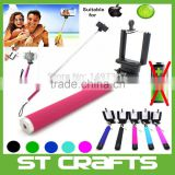 Hot Profissional Grooves On Selfie Stick Mobile Phone Camera Selfie Tripod 1/4 Screw Extendable Portrait Handheld Selfie Stick