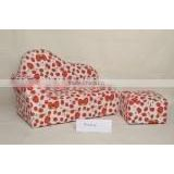 set of 2 children PU sofa with beautiful pattern