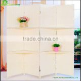 Wooden 4-Panel Folding Screen/Room Divider with Hand-Painted Flowers GVSD031