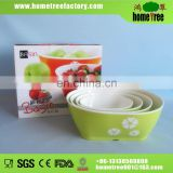 Plastic stackable oval fruit bowl set