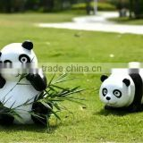 resin material garden decoration panda lifelike fiberglass panda